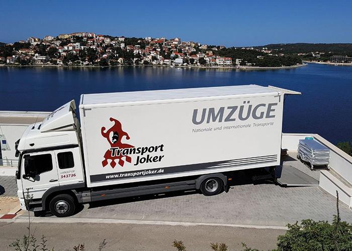Internationaler Umzug mit Transport Joker